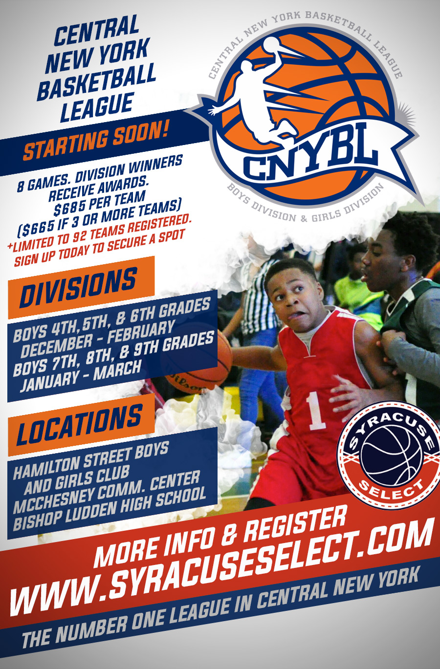 Central New York Basketball League Regeneration Now Open