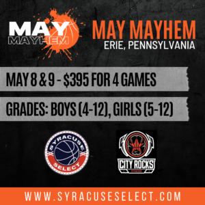 May Mayhem  – May 8th & 9th, 2021 – Erie, Pennsylvania