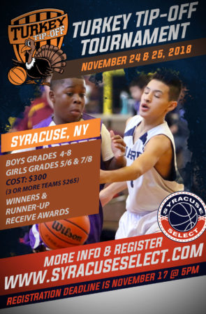 Schedule Now Posted Turkey Tip-Off (November 24 & 25, 2018)