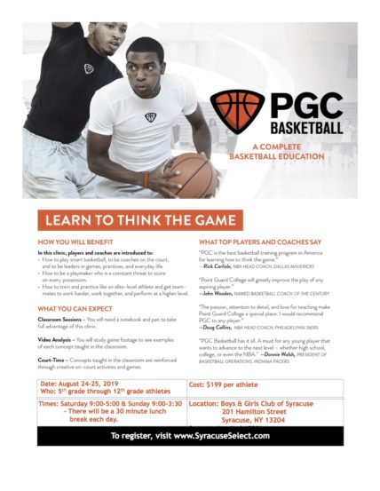 Point Guard College Registration Now Open (Only The 1st 80 Players)  54 Spots Taken Already!