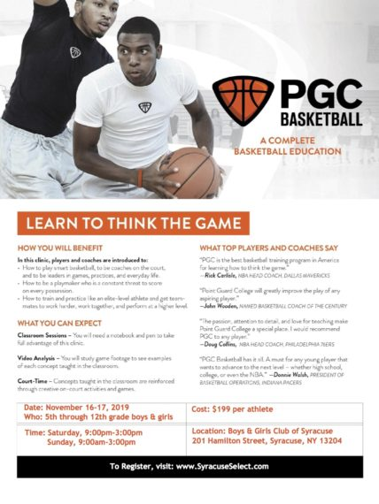 Point Guard College Registration Now Open! November 15th & 16th, 2019!