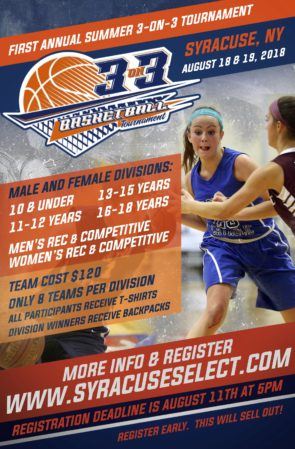 Syracuse Select Three On Three Schedule Now Posted