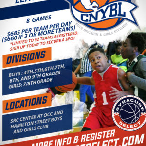 2020 Central New York Basketball League Registration Page