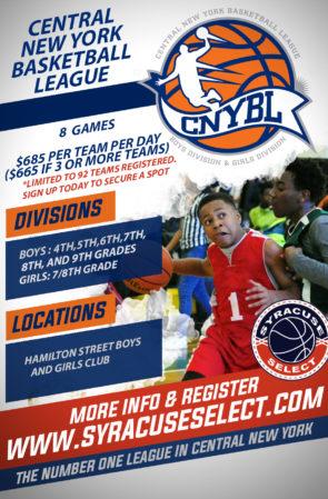 2019 – 2020 Central New York Basketball League for Boys & Girls Teams