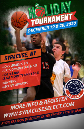 Holiday Tournament (December 19th & 20th, 2020)