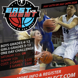 BASKETBALL IS BACK!  THIS TOURNAMENT WILL BE PLAYED IN ERIE, PENNSYLVANIA – East vs. West Best of The Of The Best     (July 25th OR 26th, 2020)