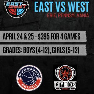 East vs West Erie, Pa April 24th & 25th, 2021