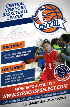 2021 Central New York Basketball League Registration Page
