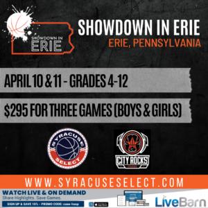 2021 SHOWDOWN IN ERIE – APRIL 10th & 11th, 2021 ERIE, PENNSYLVANIA